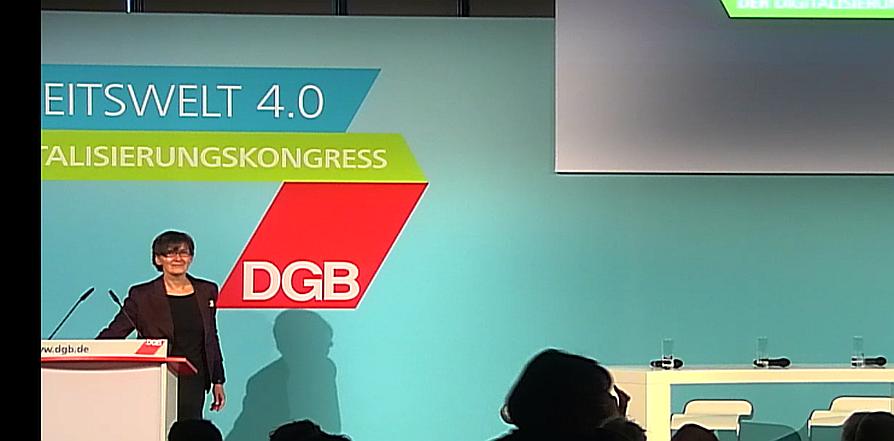 DGB Digitalisierungskongress Isabel Rothe, Präsidentin Bundesanstalt für Arbeitsschutz und Arbeitsmedizin